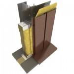 Стеновые сэндвич-панели Облицовка линеарными панелями вертикально